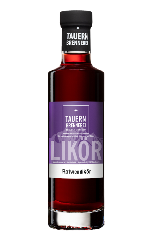 Rotweinlikör